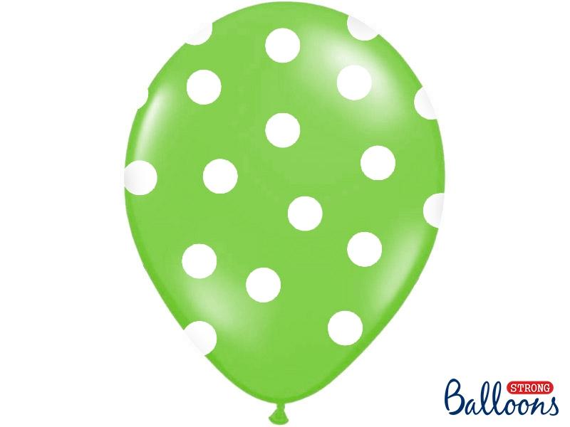 1dab18b8aab Balónek zelený s bílými puntíky - 30cm