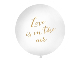 "Balón jumbo ""Love is in the air"" se zlatým nápisem - 1m"